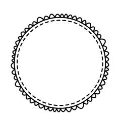 circle frame elegant isolated icon vector image