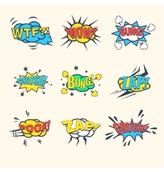 Common Comics Exclamations speech bubble vector image vector image