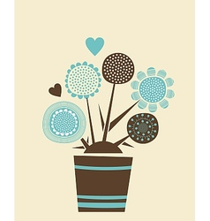 Decorative Flowers Pot vector image vector image