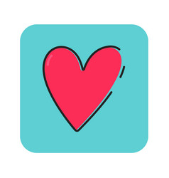 flat color love icon vector image vector image