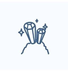 Gemstones sketch icon vector image