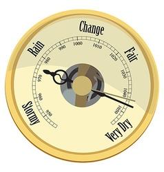 Golden barometer vector