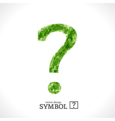 Grunge Symbol Question vector image vector image