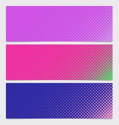 halftone dot pattern banner background set - vector image vector image