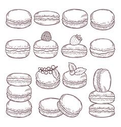 hand drawn of paris cuisine vector image vector image