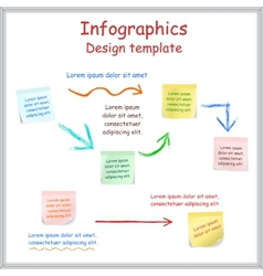 Infographic report template with board and vector