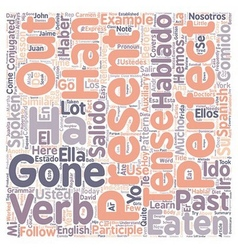 Learn spanish lesson and the present perfect tense vector