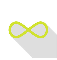 Limitless symbol pear icon with flat vector