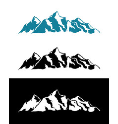Logo of alps mountains vector