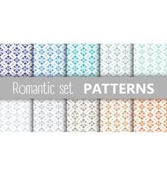 Pastel retro patterns vector image vector image