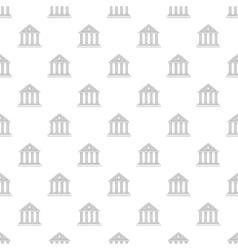 Roman colonnade pattern cartoon style vector