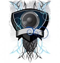speaker grunge vector image vector image