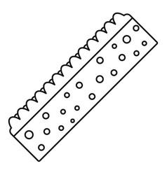 Sponge icon outline style vector