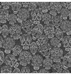 sugar skulls seamless pattern vector image vector image