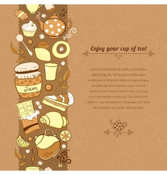 tea for template card vector image vector image