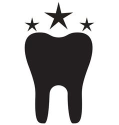 Teeth Icon Star vector image vector image