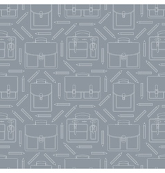Seamless pattern with portfolios and pencils vector