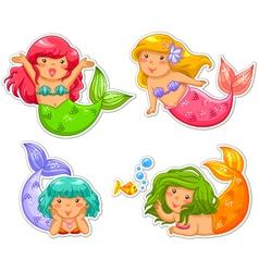 little mermaids vector image