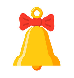 yellow bell icon vector image