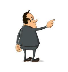 Man pointing finger away vector