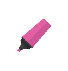 Isolated highlighter flat icon marker vector