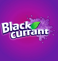 Blackcurrant drink logo vector