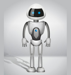 Robot with screen indicator vector