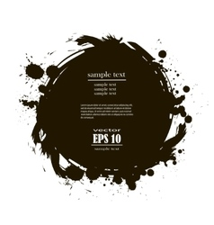Banner spot of black paint vector