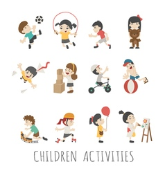 Children activities  eps10 format vector