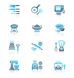 Cooking set - marine series vector