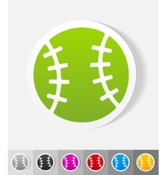 realistic design element baseball vector image
