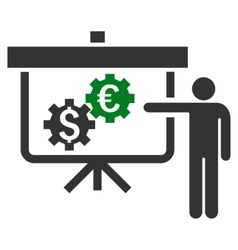 International Banking Project Flat Icon vector image