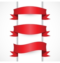 Red ribbon simple set arch flag shapes vector