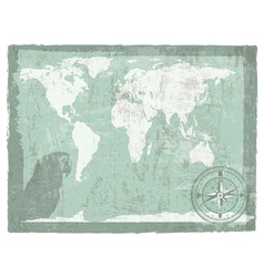 travel vintage background vector image