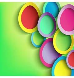 Abstract background with colorful Easter egg vector image