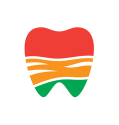 Abstract tooth dental logo vector