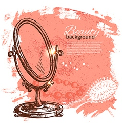 Beauty sketch background vector