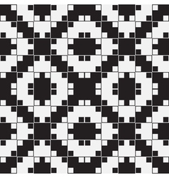 Black and White Optical Seamless Pattern vector image vector image