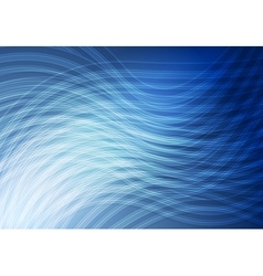 Bright blue curved lines background vector
