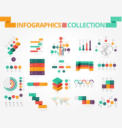 business and social infographics vector image