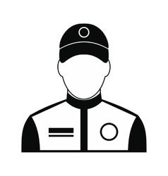 Car racer black simple icon vector