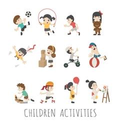 Children activities eps10 format vector image vector image