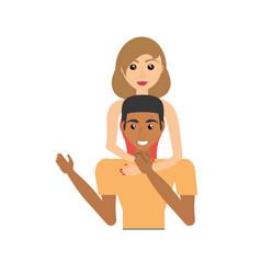 Couple romantic relationship image vector