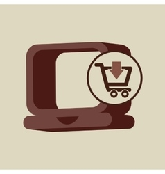 Ecommerce with laptop technology icon vector