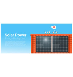 Energy concept background with solar panel 5 vector