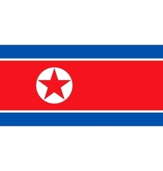 Flag of North Korea in correct size and colors vector image vector image