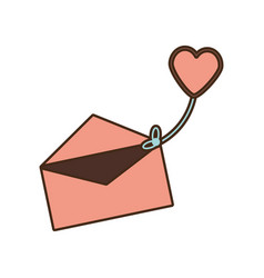 Mail message celebration greeting love vector