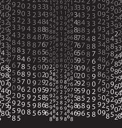 Matrix concept black and white background vector