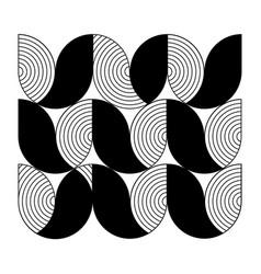 minimal geometric pattern flower shape and line vector image vector image