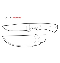 outline knife vector image vector image